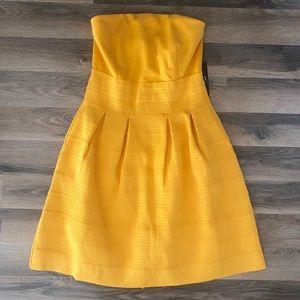 New York & Co. Yellow Strapless Dress 🌼